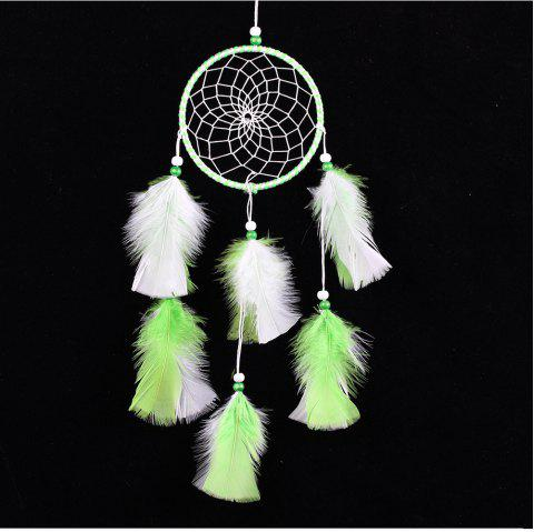 Handmade Feather Dream Catcher for Home Wall Decorations - multicolor C 45*11CM