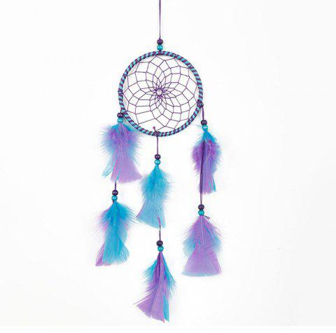 Handmade Feather Dream Catcher for Home Wall Decorations - multicolor B 45*11CM