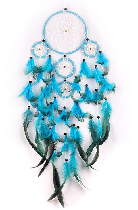 Lace Dream Catcher Hanging Circle Feather Flowers China Dreamcatcher - multicolor B 60*13CM