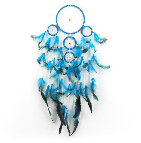 Lace Dream Catcher Hanging Circle Feather Flowers China Dreamcatcher - multicolor A 60*13CM