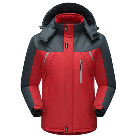Outdoor Stormsuits Big Size Hiking Suits Pillow Top Cotton Ski Suits - RED L