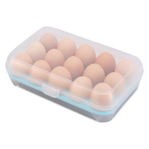 15 Boxes of Egg Boxes Refrigerator Boxes Storage Boxes - LIGHT BLUE REGULAR