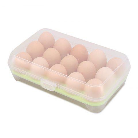 15 Boxes of Egg Boxes Refrigerator Boxes Storage Boxes - GREEN REGULAR