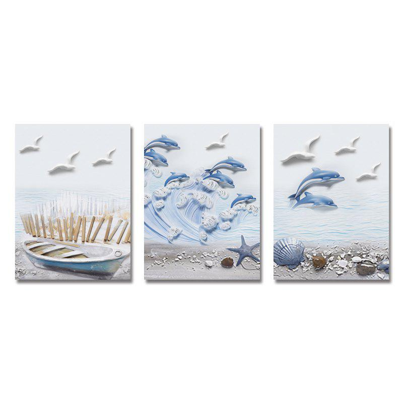 DYC 3PCS Beach Scenery Print Art