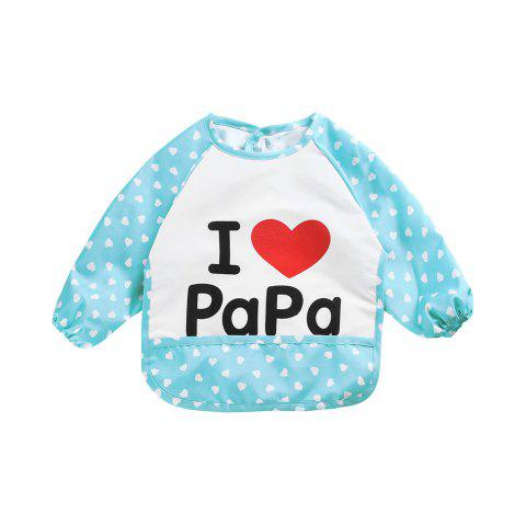 Baby Gown Anti-dirty Painting Bib Eating Clothes - multicolor A
