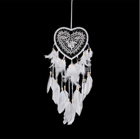Heart to Heart DreamCatcher Wall Hanging Home Car Decor - WHITE 55*15CM