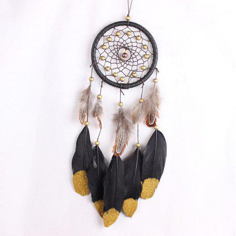 Handmade Dreamcatcher Wind Chimes Car Pendant Wall Hanging Ornaments - multicolor A 45*11CM