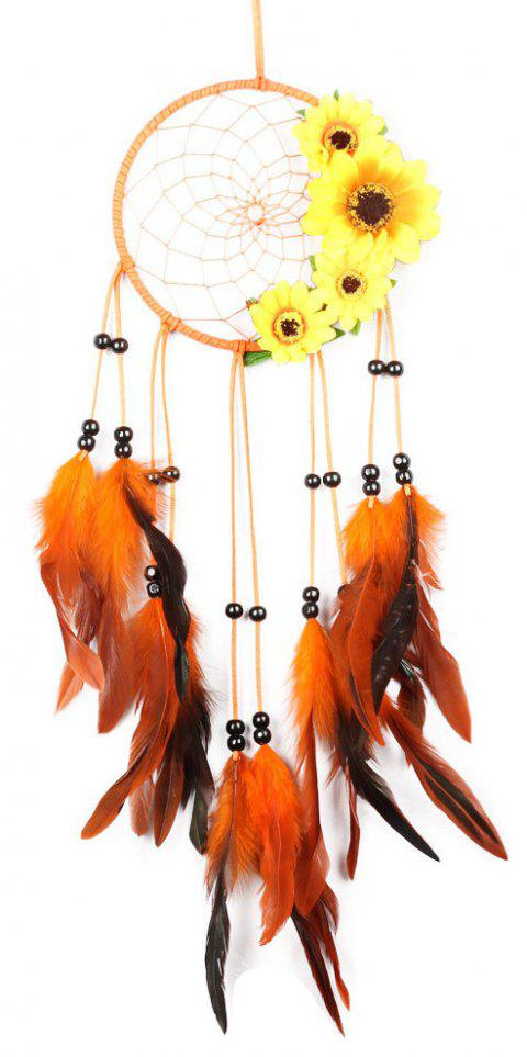 Feathers Craft Handmade Dream Catcher Wall Car Hanging Ornaments - multicolor 68*16CM