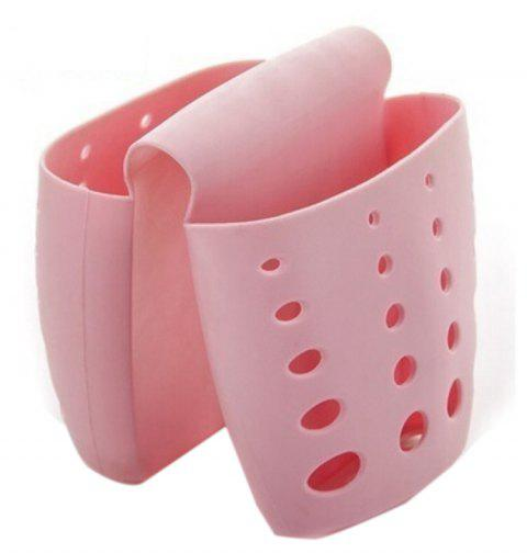 Kitchen Tools Sink To Collect Draining Rack Hanging Bag and Hanging Basket - PINK 1PC