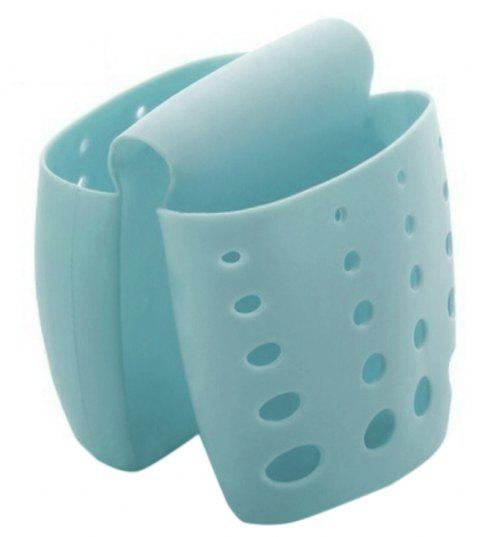 Kitchen Tools Sink To Collect Draining Rack Hanging Bag and Hanging Basket - CORAL BLUE 1PC
