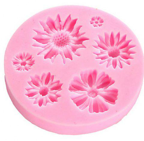 Flower Silicone Molds  Craft Cake Candy Chocolate  Pastry Baking Tool - PINK
