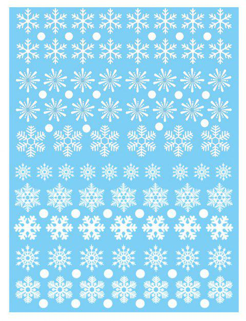 Christmas Snowflake Window Clings Decorations - MILK WHITE