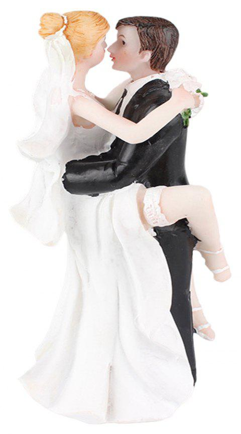 Foot The Bride The Groom Cake Topper Ornaments Decoration - WHITE