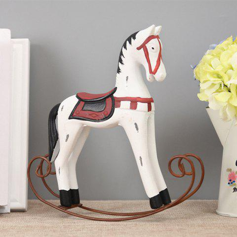 Horse Craft Sitting Room Office Decoration The Old Wooden Craft - WHITE 24*23CM