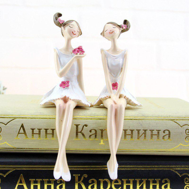 2PCS Home Accessories resin Crafts Furnishing Articles Gifts Figures Statues