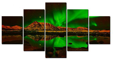 YISHIYUAN 5 Pcs HD Inkjet Paints Aurora Scenery Decorative Painting - multicolor 1PC X 16 X 39,2PCS X 16 X 24,2PCS X 16 X 31 INCH(
