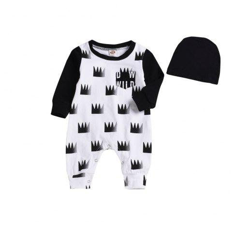 High Quality Children's Wear Hill Printed Jacket + Trousers - WHITE L