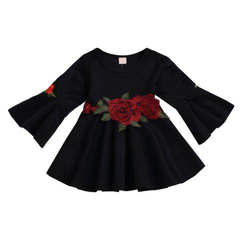 New Autumn Winter Girls Roses Trumpet Skirts Fashion Skirts - BLACK 2XL