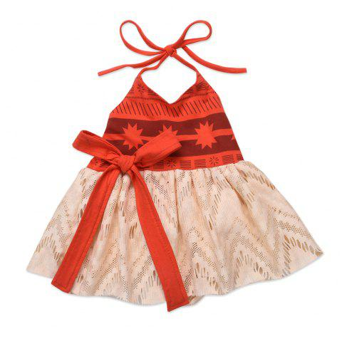 Quality Red Harness Princess Princess Gauze Skirt - BEAN RED 2XL