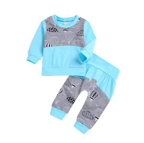 Light Blue Balloon with Long Sleeves and Three Pairs of Trousers - TRON BLUE S