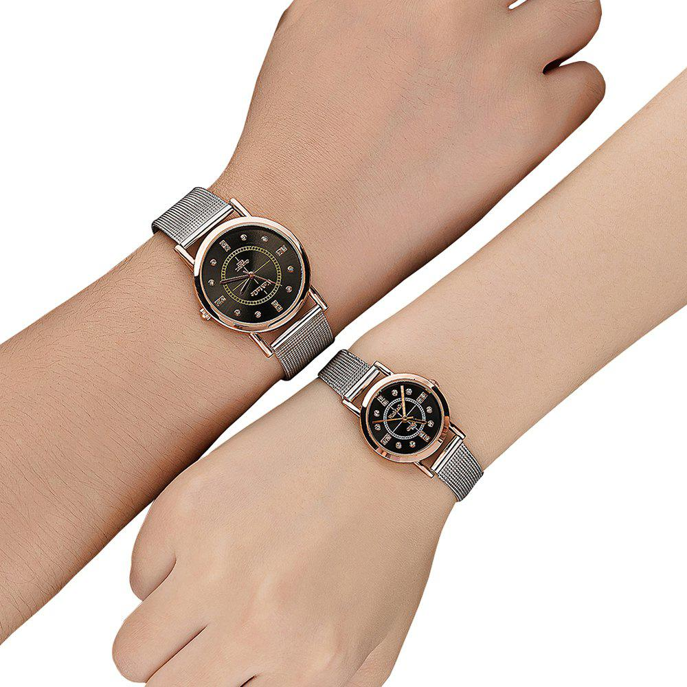 Fashion Lovers Watch Stainless Steel strap Diamond Dial Watch Watches, Black