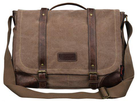 9b43c5d2d1f5 2019 DGY Men s Canvas Shoulder Laptop Bags In LIGHT BROWN ...