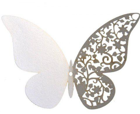 12 pcs Butterfly  Half-hollow Colorful Wall Sticker Room Decoration - WHITE