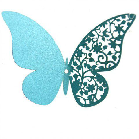 12 pcs Butterfly  Half-hollow Colorful Wall Sticker Room Decoration - SKY BLUE