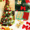 12PCS  Christmas Tree Party Home Bowknots Festival Decoration - GOLD