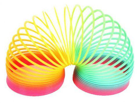 Magic Plastic Slinky Rainbow Spring Colorful New Children Funny Classic Toy - multicolor