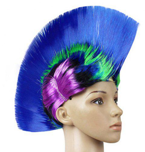 Funny Colour Fluffy Punk Comb Hair - multicolor C