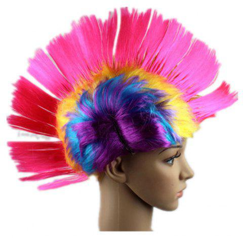 Funny Colour Fluffy Punk Comb Hair - multicolor B