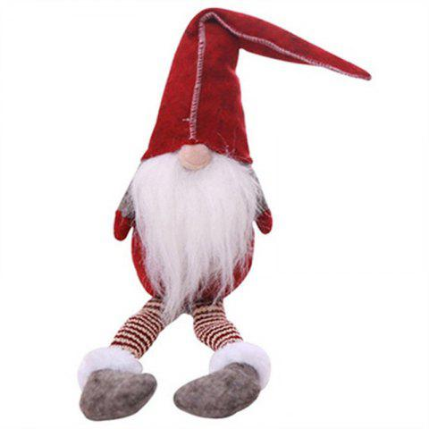 Christmas Gift Decoration Figurine Sitting Legged Doll - RED