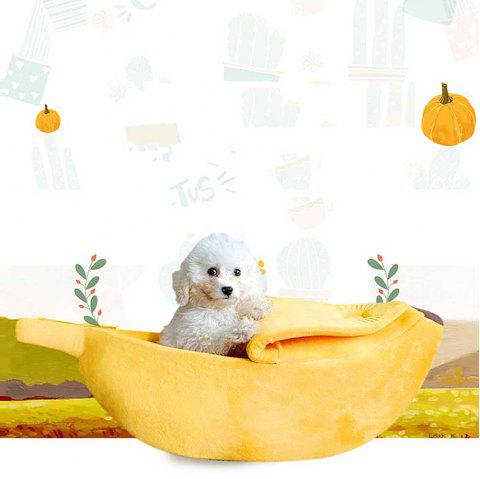 Banana Shaped To Keep Your Pet Warm Cat And Dog Bed - BRIGHT YELLOW 55*20*15CM