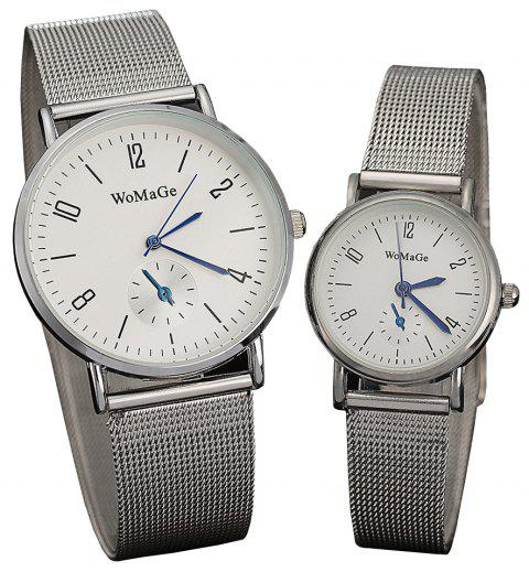 Men and Women Classic  Watch Concise Digital Disk leisure With Quartz Watch - WHITE