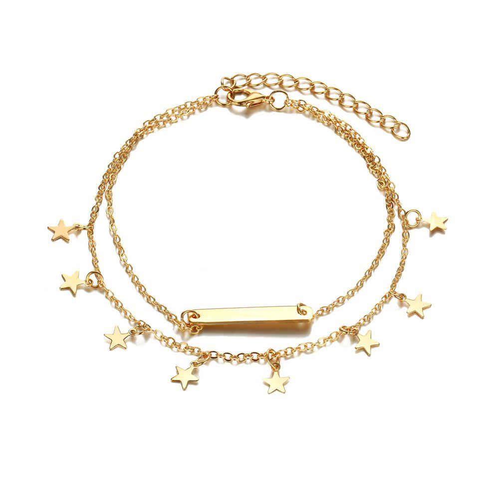 Multi Layer Star Pendant Anklet Foot Chain For Women
