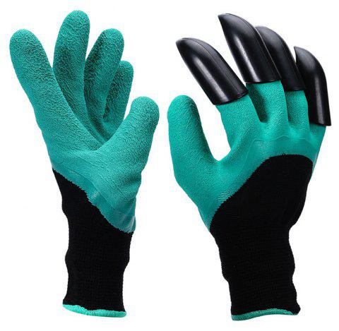 Garden Genie Gloves with Claws Waterproof Genie Gloves for Digging and Planting - MEDIUM TURQUOISE
