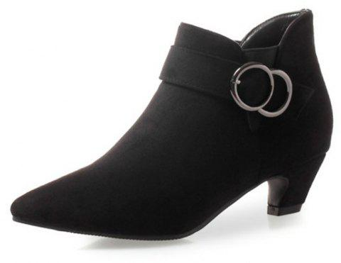 Pointed To Thick with Wild Women'S Boots - BLACK EU 38