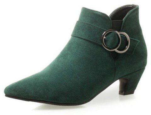Pointed To Thick with Wild Women'S Boots - GREEN EU 36