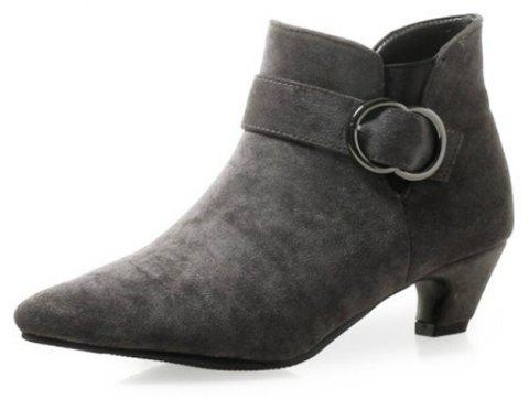 Pointed To Thick with Wild Women'S Boots - GRAY EU 34