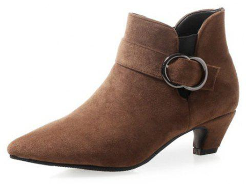 Pointed To Thick with Wild Women'S Boots - BROWN EU 38