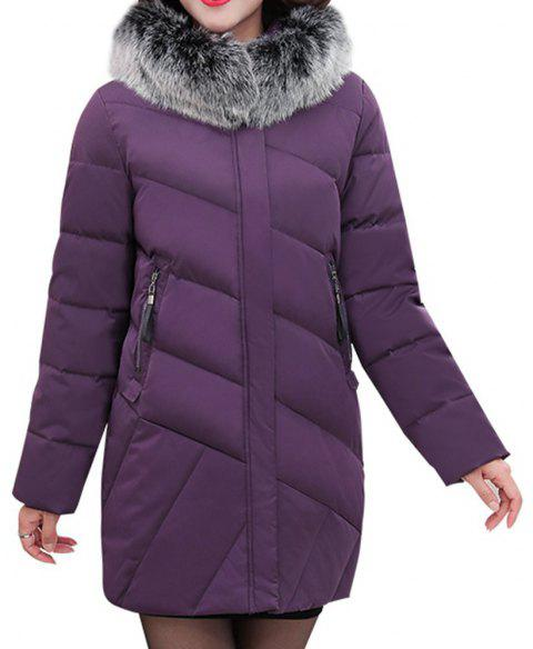 9a99ad8141 2018 Winter Jacket Women Clothing Middle and Old Aged Cotton Jacket -  PURPLE 3XL