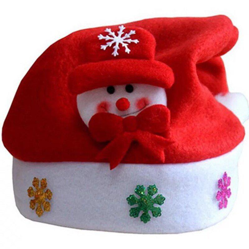 Christmas Children's Saint Applique Hat - ROSSO RED