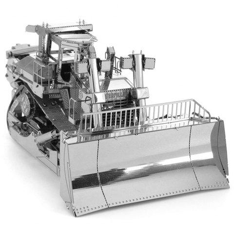 Bulldozer 3D Metal High-quality DIY Laser Cut Puzzles Model Toy - SILVER