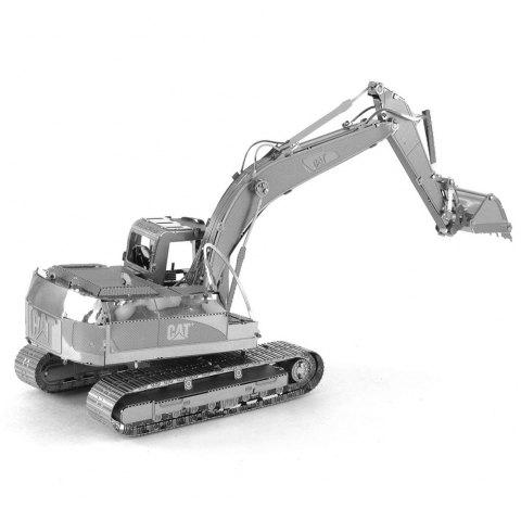 Excavator 3D Metal High-quality DIY Laser Cut Puzzles Model Toy - SILVER