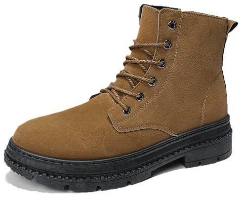 Men high-cut Solid Casual Fashion Worker Boots - BROWN EU 39