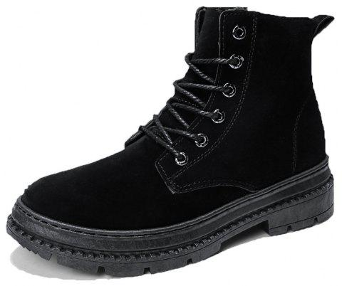 Men high-cut Solid Casual Fashion Worker Boots - BLACK EU 42