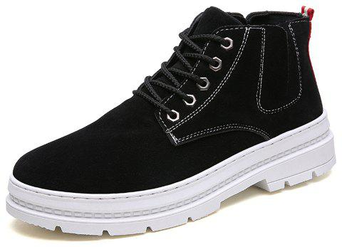 Men High-Cut Solid Casual Fashion Boots - WHITE EU 43
