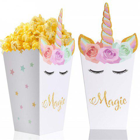 12 PCS Popcorn Candy Treat Snack Boxes for Wedding Birthday Christmas Party - multicolor