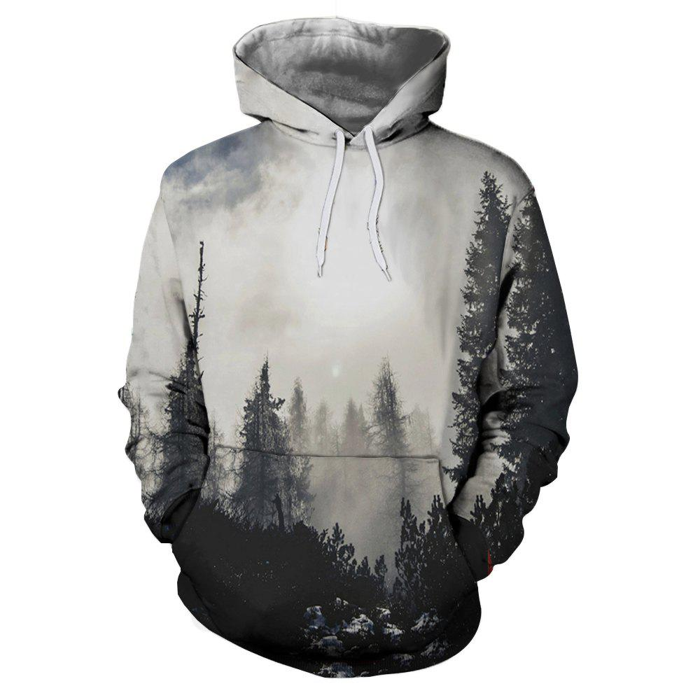 Fashion 3D Printed Deep Forest Figure Long Sleeve Sweater